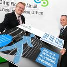 Head of Final LEO, Oisin Geoghegan and chief executive of Fingal County Council, Paul Reid.