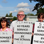 A protest at St Cronan's SNS in Swords pending the outcome of talks this week