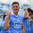 Dublin's Paul Flynn celebrates following the GAA Football All-Ireland Senior Championship Final match between Dublin and Mayo at Croke Park in Dublin