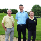 Vice Captain Tony Hamilton, Nigel Howley and Lady Vice Captain Beatrice Magee at Balbriggan golf club charity day