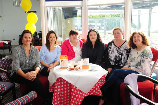 Caroline Hegarty, Hazel Williams, Jean Boardman, Caitriona Coyle, Clare Carthy and Anne Ryan at the coffee morning in Rush Sailing Club