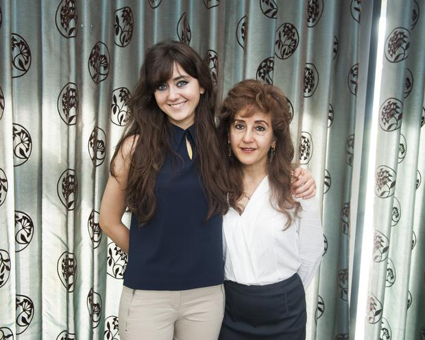 Sara and Roya Lyons at the Bahai 200th anniversary celebrations in Malahide Rugby Club.