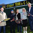 Alan Farrell TD, Roger Geraghty Tennis Ireland, Tara Congdon Tennis Club,Nuala O'Donnell Balrothery Balbriggan Tennis Club and Brendan Ryan TD