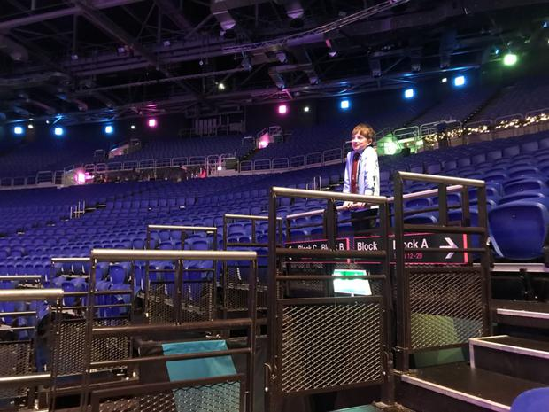 Black Raven Drummer Donnacha at the 3 Arena before playing with the Ravens and Andre Rieu
