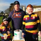 Emily, Jason and Matthew Cauldwell at the GOAL Mile run in Skerries Rugby Club