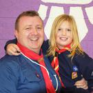 Cub Leader Greg Hannon with his daughter Aoife Hannon