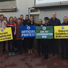 Pay equality protest at Balbriggan Community College.