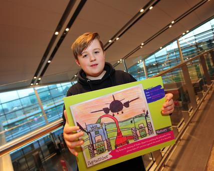 Ciaran Heneghan at the 2018 Dublin Airport School Calendar Competition.