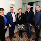 Cllr Grainne Maguire, Cllr Tony Murphy, Fingal Mayor Mary McCamley with Terry O'Reilly and Cllr Malachy Quinn at the Tidy Towns reception at Balbriggan Bracken Court