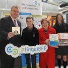 Fingal LEO Head of Enterprise Oisin Geoghegan, Mayor Mary Mc Camley, Blanchardstown Centre Marketing Manager and Mercy Prendergast, former winner.