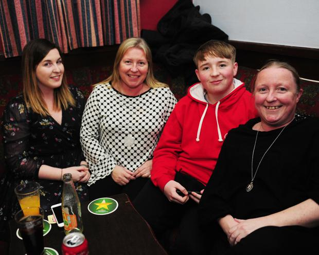 Louise, Olivia, Darragh and Gillian Coleman at the Skerries Trad Table Quiz in Keanes Bus Bar.