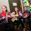 Meadbh Delaney, Brooke Richardson and Aisling McCabe at the Fingal Folk Club
