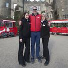 Mary Casado, Michael Place and Anne O Shaughnessy launching a new facelift for Toots the Train at Malahide Castle.