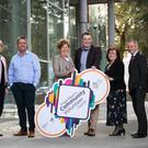 Senior Community Officer, Ide De Bairtiseil, RTÉ News newsreader, Aengus Mac Grianna, Mayor of Fingal, Cllr Mary McCamley, Public Participation Network Officer, Jamie Moore, Chief Executive of Fingal County Council, Paul Reid, Public Participation Network Officer Mary Harford and Principal Community Officer Pat Queenan at the launch of the Mayors Community Volunteer Awards in County Hall, Swords.
