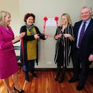 Talbot Group CEO Laverne McGuinness, Jacinta Walsh, Patricia Whelehan General Manager from the HSE and Fergus O'Dowd TD at the opening of its Adult Respite Service, Bower House in Balbriggan