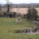The site today of Fagans Castle at Feltrim
