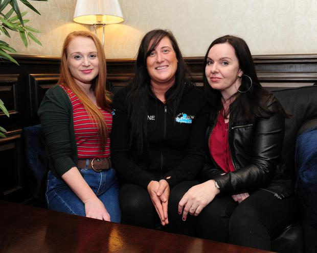 Edel Murray, Jayne Robinson Brogan and Sharon Kelly of Balbriggan Gospel Choir who will sing at the Skerries Darkness Into Light event