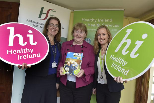 At the launch of the 'Healthy Ireland Implementation Plan' for CHO Dublin North City and County were, l to r, Anne O'Connor, National Director Community Operations, Mary Walshe, Chief Officer, CHO Dublin North City and County and Stephanie O'Keefe National Director Strategy Planning and Transformation