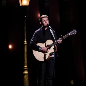 Ireland's Ryan O'Shaughnessy performs 'Together' in the Eurovision in Lisbon on Saturday night.