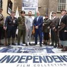 Pictured is Minister of State at the Department of Culture, Heritage and the Gaeltacht, Joe McHugh TD (centre right) and Ross Keane, Director of the Irish Film Institute (IFI) with Members of the Fingal Old IRA Commemorative Society at the launch of the Irish Independence Film Collection, a culturally significant collection of Irish newsreel material from the period 1914-1930.
