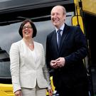Minister for Transport, Sport and Tourism Shane Ross and Anne Graham, Chief Executive Officer of the National Transport Authority