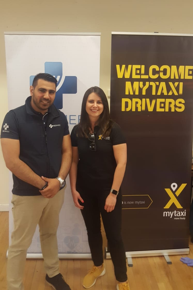 Bernard Nolan co-founder of Medimee, and Fiona Brady, Director of Operations at Mytaxi