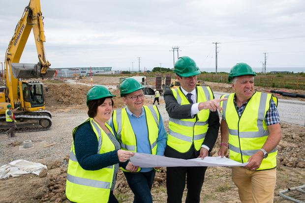 Works on the Stephenstown Link Road, which is set to open up 53 acres of industrial land with the potential to generate up to 900 jobs, are now well advanced and should be completed by November