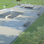 An artist's impression of how the new skate park will look