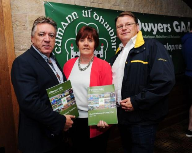 Cllr Tony Murphy, Cllr Grainne Maguire and Cllr Malachy Quinn united in welcoming investment in the town.