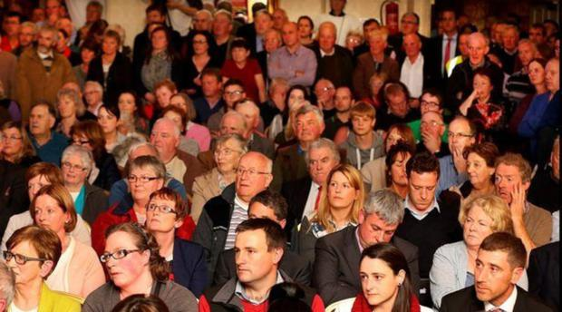 A packed meeting of farmers in Balbriggan, two years ago, talking about rural crime. Patrick Walsh says nothing has changed and there needs to be another meeting on the issue