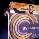 Niall Fitzgerald, YSI Guide, Portmarnock Community School with YSI Speak Out Tour Host Dayl Cronin