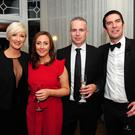 Darina Currid, Nickki White, David White and Marc Currid at the 40th anniversary ball for Portmarnock AFC in Portmarnock Hotel and Golf Links