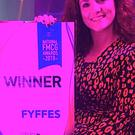Fyffes' Emma Hunt-Duffy receives the 'Brand Legacy' lifetime achievement award at the recent Checkout National FMCG Awards held in Dublin's Mansion House