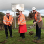 The Donabate Distributor Road is now well underway. Back when the first sod was turned, were pictured Eoghan Murphy TD; the then Mayor of Fingal, Cllr Mary McCamley; and Fingal County Council Chief Executive, Paul Reid