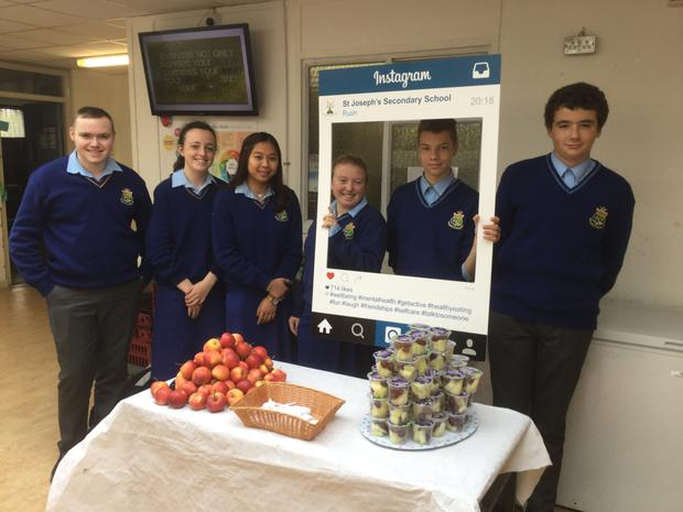 Students of St Joseph's Secondary School in Rush during Wellbeing Week
