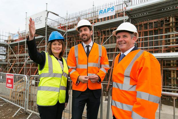 Planning Director, Ann Marie Farrelly, Minister for Housing Eoghan Murphy, and Fingal County Council Chief Executive Paul Reid at Ballymastone