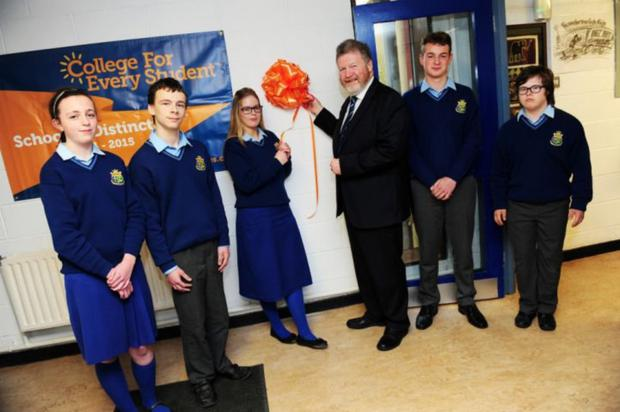 Chair of the board of management of St Joseph's Secondary School, Senator James Reilly, at the school