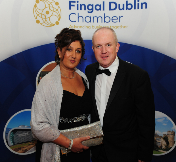 Felicity and Andrew McCann at the Fingal Dublin Chamber Awards.