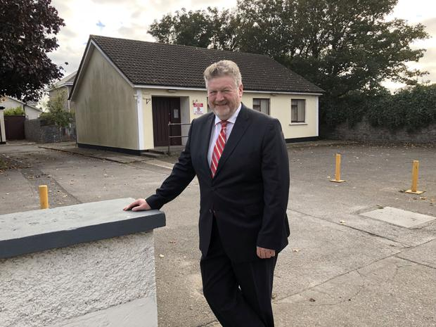 Senator James Reilly at Rush Garda Station which is set to reopen next year.