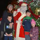 The Cahill family at the turning on of the Ballyboughal Christmas Lights