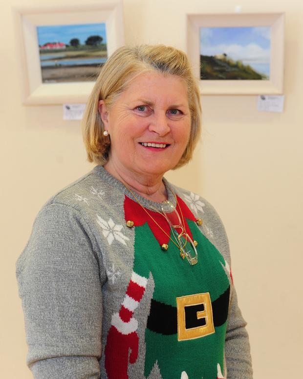 Yvonne Moran Secretary of Portmarnock art Group at the Portmarnock Art  Group Annual Exhibition in Malahide