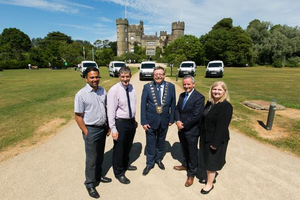 Launch of the first five Fingal County Council electric vehicles at Malahide Castle by Cllr Anthony Lavin, Mayor of Fingal. Picture by Shane O'Neill, SON Photographic
