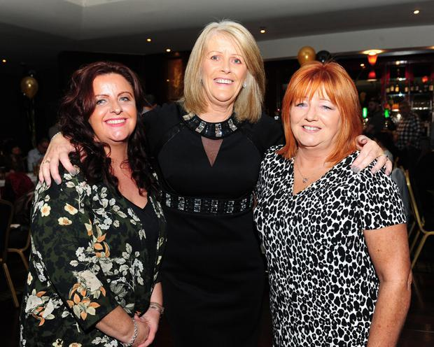 Michelle Rooney, Mary Coffey and Deirdre Hughes at the Kevin Bell Repatriation Trust fundraiser in the Bracken Court Hotel