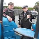 Liam Cooney from Ballyboughal and Barney Greene from Man O War with his beloved vintage tractor