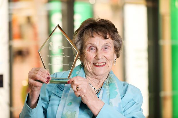 Kathleen with her award