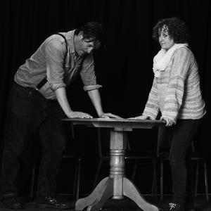 David Diebold and Aisling Coleman rehearsing for A View from the Bridge. (pic by Aga Daly, Daily Photography)