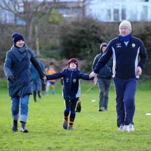 Families enjoyed the GOAL Mile in Skerries Rugby Club