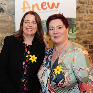 CEO Marian Barnard and Fiona Barry, Manager of Cherry Blossom Cottage at the 1st Year Anniversary of Anew in Swords Castle. (pics by Fintan Clarke)
