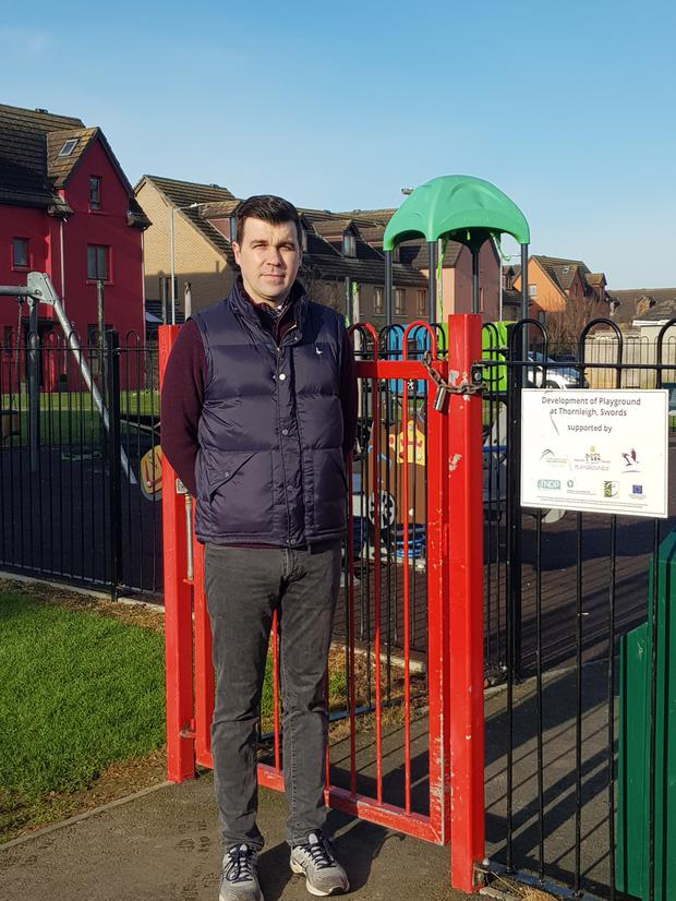 Cllr Duncan Smith at Thornleigh Playground