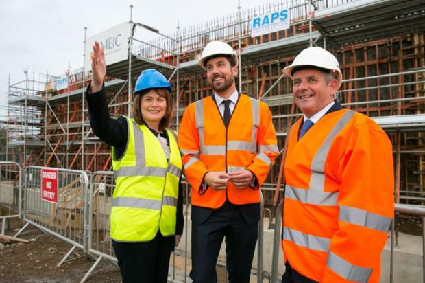 Minister Eoghan Murphy TD pictured with Fingal's Director of Planning, Ann Marie Farrelly and Council chief executive, Paul Reid